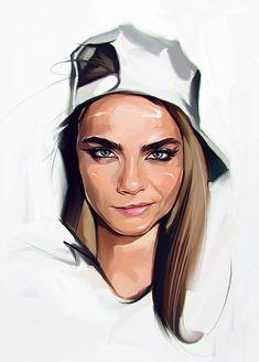 Retrato de mujer con la gorra al revés