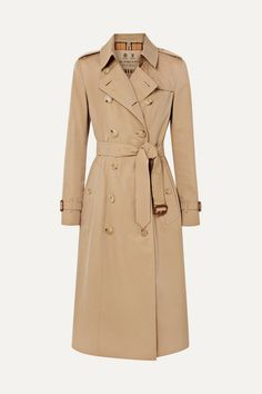 Burberry The Chelsea Long Cotton-gabardine Trench Coat In Beige Trench Coat Outfit, Beige Trench Coat, Classic Trench Coat, Leather Trench Coat, Long Beige Coat, Leather Boots, Burberry Outfit, Burberry Trench Coat, Mein Style
