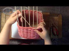 #1021 Мастер-класс с Ниной Сиреневая корзинка из газетных трубочек ENGLISH SUBTITLES - YouTube