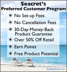 Discover How To save Up to 60% on Seacret Dead Sea Products  Click on http://lynx2.co/4o