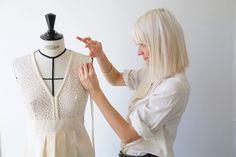 Camille RECOLIN, WEDDING DRESS DESIGNER .  Blond hair / White Hair / Creator / Sewing /wedding dress / Couture /Dress /