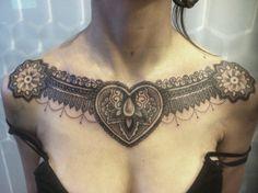 tatuagem peitoral feminina aquarela - Google Search