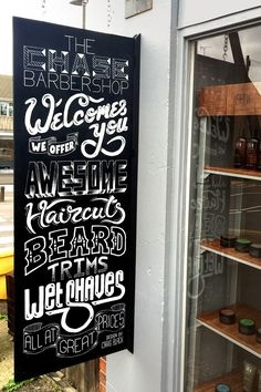 The Chase Barbershop - Chalkboard Mural Typography Images, Creative Typography, Typography Inspiration, Typography Letters, Typography Design, Design Inspiration, Barber Jobs, One Design, Graphic Design Illustration