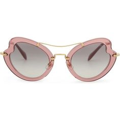 7522f680c15a Miu Miu MU11RS Irregular butterfly-frame sunglasses ( 240) ❤ liked on  Polyvore featuring