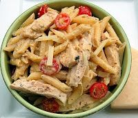 Just a good recipe: Grilled chicken ceasar pasta salad