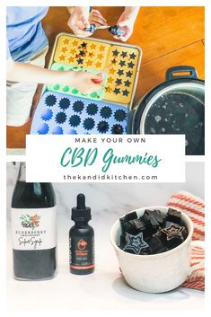 Elderberry Gummies made with CBD Oil. Get all the benefits of CBD Oil along with the benefits of elderberry and wolf berry syrup. This homemade recipe for CBD and elderberry gummies is the best you wi Elderberry Gummies, Elderberry Recipes, Elderberry Syrup, Carb Cycling, Herb Recipes, Real Food Recipes, Healthy Recipes, Make Your Own, Make It Yourself