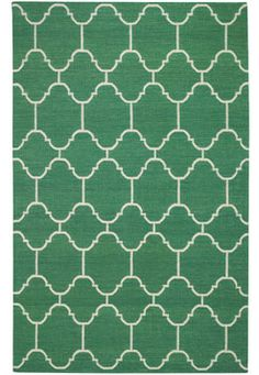 genevieve gorder for capel rugs flatweave emerald green arabesque rug {5X8} :: $627.75