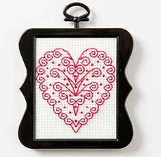 Download this free heart cross stitch pattern to get a quick stitch fix in before Valentine's Day!