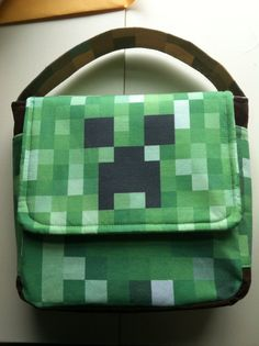 Minecraftinspired Lunch Bag by JustKristnsShoppe on Etsy. My son needs this! Minecraft Bag, Minecraft Party, Projects For Kids, Bobs, Nom Nom, Lunch Box, Sew, Inspired, Trending Outfits