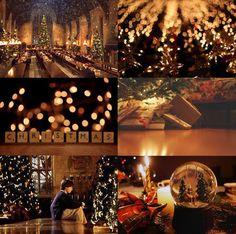 christmas at hogwarts aesthetic