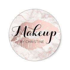 #makeup #artist #makeupartist - #makeup calligraphy on big lips classic round sticker