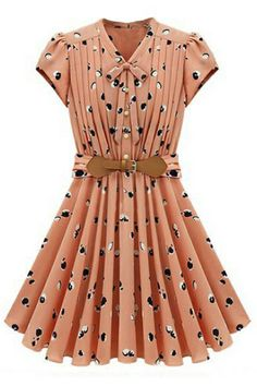 To find out about the Light Orange Short Sleeve Apple Print Bandeau Pleated Dress at SHEIN, part of our latest Dresses ready to shop online today! Pretty Outfits, Cute Outfits, Cute Dresses, Dresses For Work, Dresses 2013, Women's Dresses, Party Dresses, Dresses Online, Lady Like