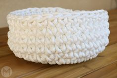 How To Crochet A Simple Basket |