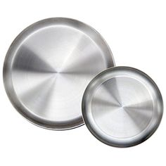 Immokaz Matte Polished 9.0 inch 304 Stainless Steel Round Plates Dish Set, for Dinner Plate, Camping Outdoor Plate, BPA Free, Pack of 2 (M). For product & price info go to:  https://all4hiking.com/products/immokaz-matte-polished-9-0-inch-304-stainless-steel-round-plates-dish-set-for-dinner-plate-camping-outdoor-plate-bpa-free-pack-of-2-m/