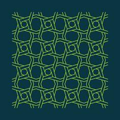 pólvora em bits: Padrões geométricos entrelaçados - 1