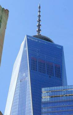 The Freedom Tower  NYC WTC Antenna on top of One World Trade Center. Thetoystalker copyright 2014.