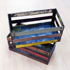 Kierrätysmetallilaatikko, värikäs