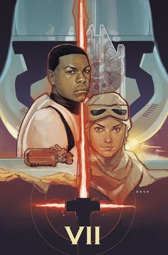 "The Force Awakens"" starring John Boyega and Daisy Ridley."