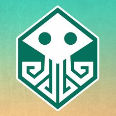 """Logo for event """"Board games by the sea"""". It's combine Cthulhu symbol with board game dice."""