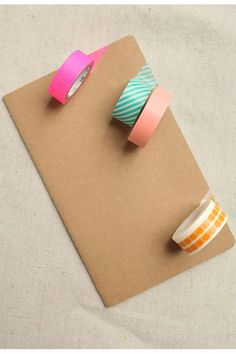 DIY notebooks or bookcovers  with washi tape..... What i'm using for school!!