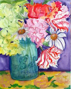 canning jar with flowers  We love this pin at www.LDSemergencyresources.com