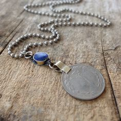 Men's Afghan Coin Necklace, Lapis Lazuli Necklace, Coin Necklace, Relic Jewelry, Relic Necklace, Exotic Jewelry for Men, Bohemian Jewelry by TesoroDelSol on Etsy https://www.etsy.com/ca/listing/97556064/mens-afghan-coin-necklace-lapis-lazuli