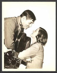 1938 CLARK GABLE MYRNA LOY ORIGINAL PHOTO