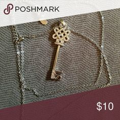 Lia Sophia necklace Cute key shaped necklace with long chain. Lia Sophia Jewelry Necklaces