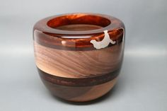 Handcrafted Wooden Bowl of Black Walnut with a by Colemancrafts