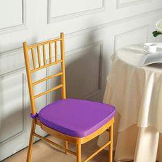 Seat Pads, Chair Pads, Chair Cushions, Chair Slipcovers, Purple Chair, Chiavari Chairs, Cushion Pads, Chair Covers, Table Linens
