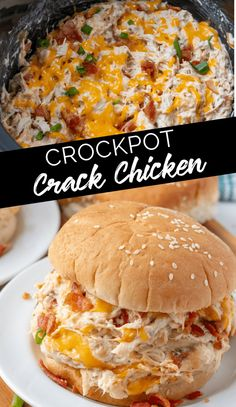 Creamy Crockpot Crack Chicken - What would you bring to a picnic? - Recipes - Creamy Crockpot Crack Chicken You - Crock Pot Recipes, Crockpot Dishes, Crock Pot Cooking, Slow Cooker Recipes, Beef Recipes, Potato Recipes, Pasta Recipes, Dessert Recipes, Chicken Crockpot Recipe