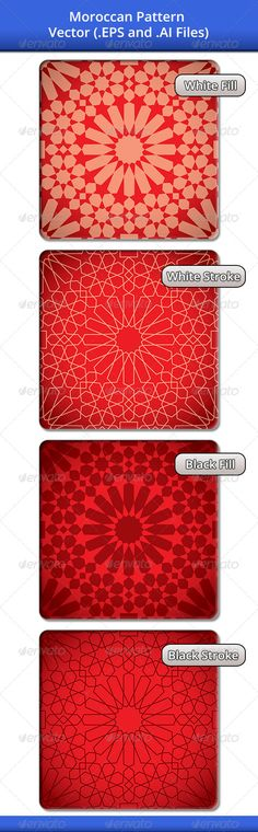 Moroccan Pattern 1 — Vector EPS #elements #islamic • Available here → https://graphicriver.net/item/moroccan-pattern-1/4079504?ref=pxcr