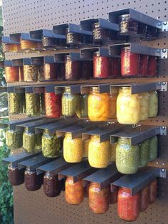 Mason jar rack - super handy if you do a lot of canning, or easy set-up at a farmer's market, or scale it down for space saving at home.