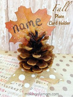 Fall Place Card Hold