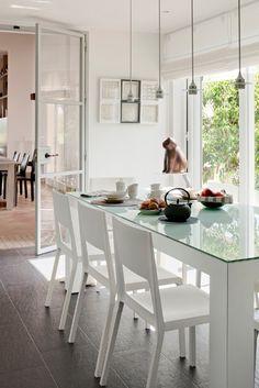 mesa comedor+sillas+blancas