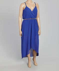 Another great find on #zulily! Royal Blue Belted Maxi Dress - Plus #zulilyfinds