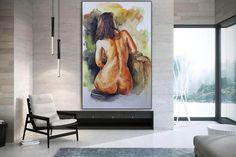 Original Nude Art Nude Body Painting Nude Women Naked image 2 Large Painting, Acrylic Painting Canvas, Body Painting, Large Canvas Wall Art, Extra Large Wall Art, Original Paintings, Original Art, Oversized Wall Art, Texture Art