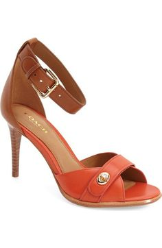 COACH 'Kathleen' Ankle Strap Sandal (Women) available at #Nordstrom