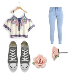 """Untitled #7"" by gracekj on Polyvore featuring Converse and 1928"