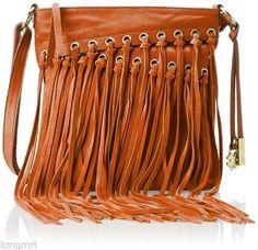 Nwt Lucky Brand Lorendo Fringe Crossbody Bag Cayenne Tangerine Lb1541 178 Luckybrand Shoulderbag