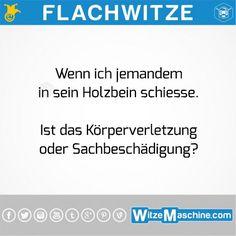 Flachwitze #193 - Holzbein - Behindertenwitze