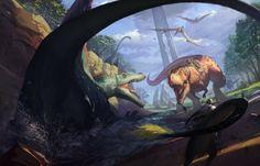 Ark, Survival Evolved Fan Art  Morning_Hunting.jpg (1920×1229)