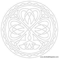 Shamrock embroidery pattern