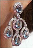 Crown Princess Mary's Diamond and Aquamarine earrings, presents from Crown Prince Frederick