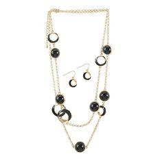 Black Orbit Jewelry Set