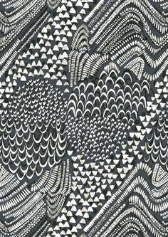 Starling Grey animal print texture draw paint blakc