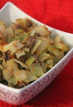 Fried Cabbage and Ground Beef. Easy, fast, delicious, healthy!
