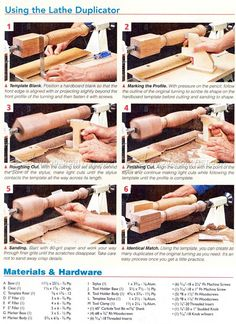 #3120 DIY Wood Lathe Duplicator - Lathe