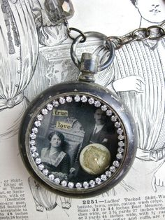 True Love Vintage Pocket Watch Necklace by rochellemybelle on Etsy, $75.00