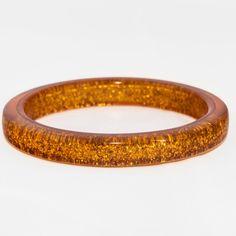 Splendette Old Gold Glitter Bangle